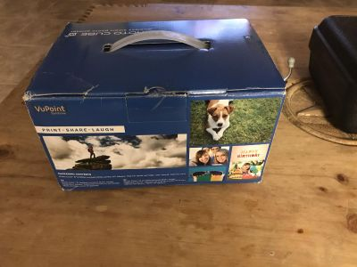 Photo cube wireless photo printer for Apple or android, new in box with 9 boxes of film