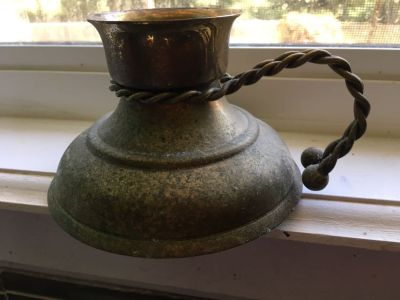 Gatco solid brass candle holder