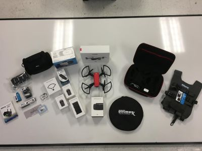 DJI Spark Lava Red Drone Bundle, Extra batteries Mint Condition