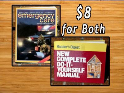 2 Books -Emergency Care & Home Improvement Guide- Both for $8 (Bethesda)