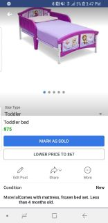 Toddler bed comes with mattress and comforter set with pillow case