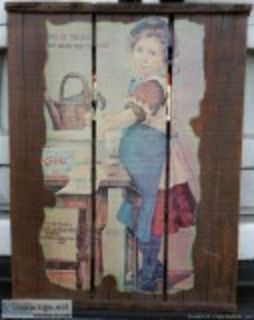Vintage Wood Crate Wall Decor