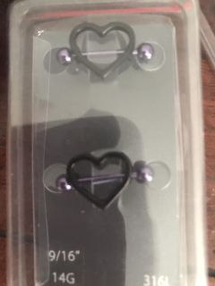 Heart Nipple rings (pick up only)
