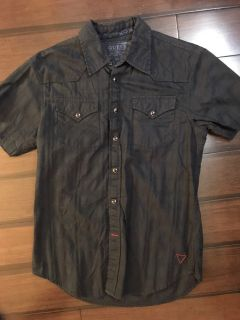 Guess Vintage dress shirt. Small. Dark blue.