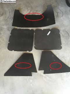 Engine Sound Absorber Kit 3 pieces