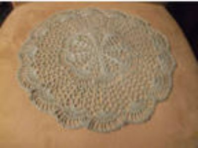 NEW Hand Crochet Doily Table Centerpiece Light Antique Green