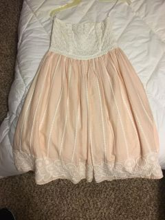 H & M strapless embroidered dress