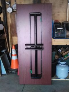 Six foot folding table, very strong,