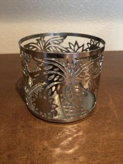 Palm tree candle holder for bath and body works 3 wick candles