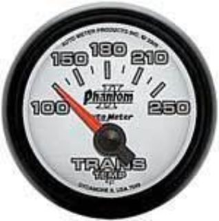 """Purchase Autometer Phantom2 SeriesTrans Temp Gauge 2-1/16"""" short sweep elec 100-250F 7549 motorcycle in Winchester, KY, US, for US $71.49"""