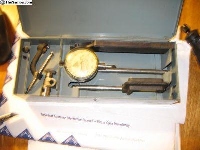 gage and box lead hammer/ starrett tools