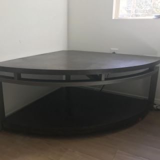 Living Spaces Corner entertainment center or console table