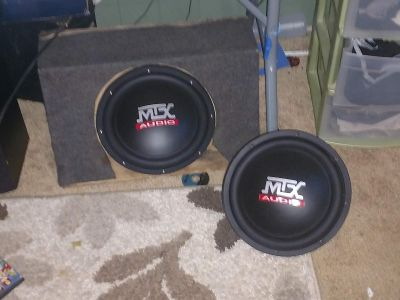 MTX Audio speakers used but in good condition no box just speakers
