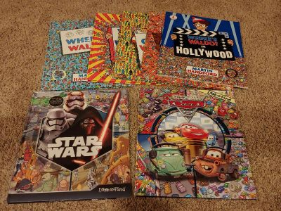Look and Find Book Lot Salvo Cars Star Wars