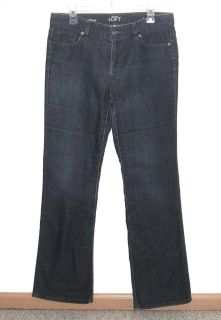Ann Taylor LOFT Original Boot Cut Denim Blue Jeans Womens 10 Stretch