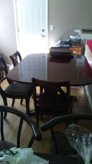 Dining room table with extra leaves