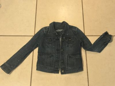 Denim Jean Jacket Girl Size 8/10 Gap EUC