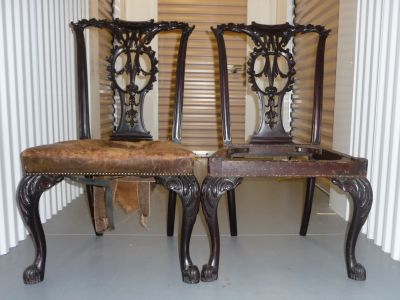 Chippendale Style Mahogany Chairs