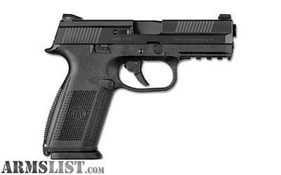 "For Sale: USED: FN FNS-9 9MM 17RD 4"" BLK POLY FS 3MG"