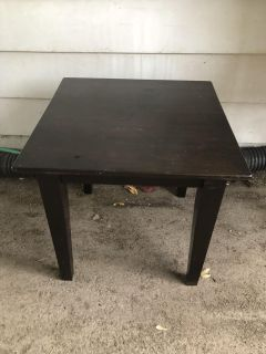 Small wooden black table $8