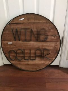 Wine cellar wall art- rustic