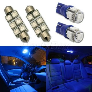 Buy 4x Blue LED Map Dome Lamp T10 194 168 + 211-2 Festoon Interior Light Package motorcycle in Cupertino, CA, US, for US $9.99