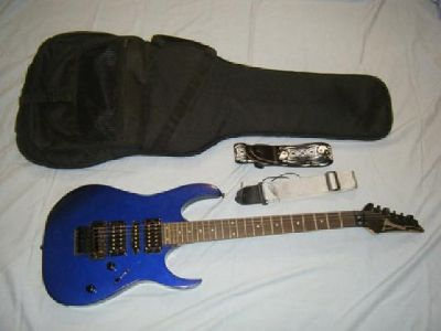 $225 Ibanez RG270B Electric Blue Guitar