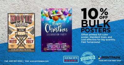 Get 10% Off on Colorful Poster Printing from PrintPapa