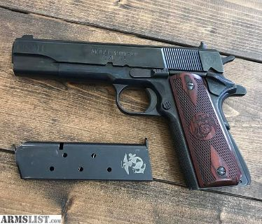 For Sale: Springfield GI 1911-A1 with USMC Engravings