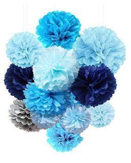 Tissue Paper Flowers Pom Poms Decorations