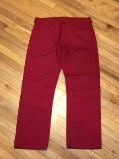 Men s (34X32) Red 501 Jeans