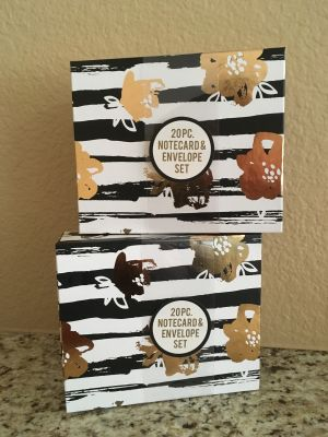20 PC Note card & Envelope Set (NEW)