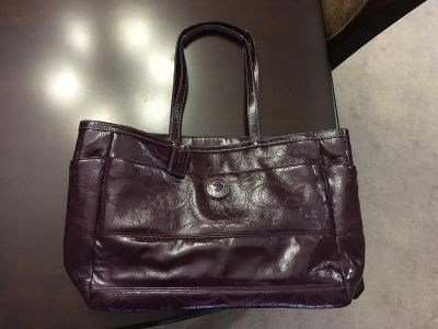 Oversized Coach Leather Tote with Lots of Multi-Function Pockets