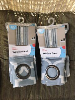 Two New Drapes Curtains Grommet Panels