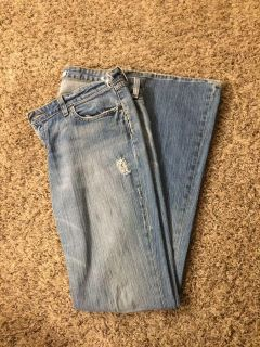 Buckle flared jeans size 32x33