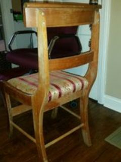 4 vintage fixer upper chairs, reduced