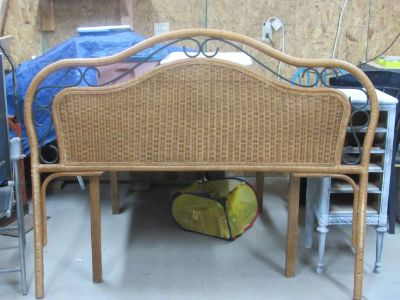 Queen size wicker headboard