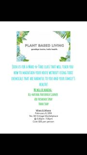All natural home and health products class