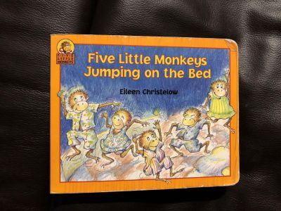 Five Little Monkeys Jumping On The Bed Hardcover/ Hard Pages Book
