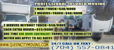 www.queencitymoving.com -INSURED FURNITURE WRAPPING AND DELIVERY SERVICE WITH A BOX TRUCK from $48/H