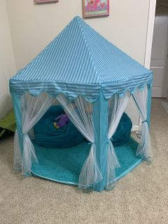Fairy Princess Castle Tent with Matching Rug and Bean Bag Chairs