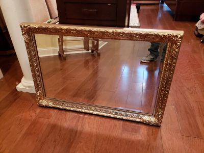 Gold Wall Hanging Mirror!