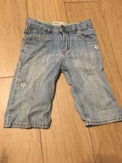 Cute Sz 4T Flower Embroidered Jeans by OshKosk