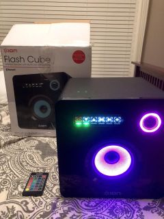 ION Flash Cube Wireless Bluetooth Speaker with Multi-color LED Lighting