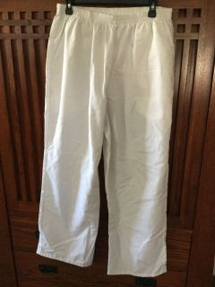 Large White Scrub Pants