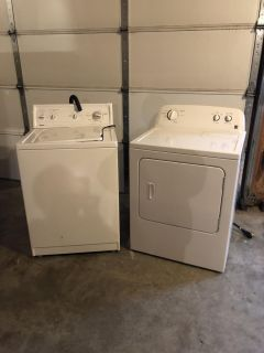Nice kenmore washer and dryer