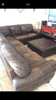 Ashley Leather Sectional