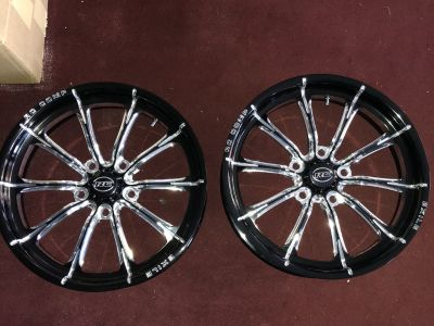 Rc components 17x4.5 wheels and Mickey Thompson Tires. New!