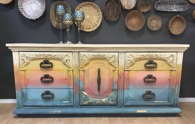 Boho Farmhouse Dresser buffet entertainment center nursery