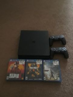 Ps4 1tb , Two Controllers, Red Dead redemption 2Black ops 4 and assassin's creed oddesey THE THREE NEWEST GAMES AND NBA 2k17